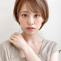 ひし形 大人かわいい ショート ナチュラル ヘアスタイルや髪型の写真・画像