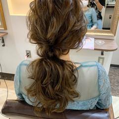 ナチュラル ヘアアレンジ ローポニー お呼ばれヘア ヘアスタイルや髪型の写真・画像