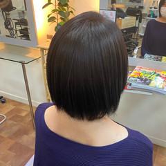 縮毛矯正ストカール 艶髪 ボブ ナチュラル ヘアスタイルや髪型の写真・画像