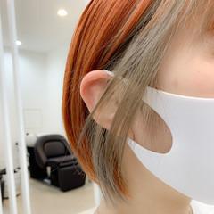 ナチュラル 透明感 アンニュイほつれヘア インナーカラー ヘアスタイルや髪型の写真・画像