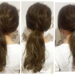 ヘアアレンジ ハーフアップ ロング 夏 ヘアスタイルや髪型の写真・画像