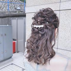 簡単ヘアアレンジ アウトドア ヘアアレンジ 結婚式 ヘアスタイルや髪型の写真・画像