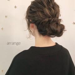 結婚式 ヘアアレンジ セミロング こなれ感 ヘアスタイルや髪型の写真・画像