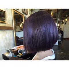 ピンク ラベンダーピンク パープル ストリート ヘアスタイルや髪型の写真・画像