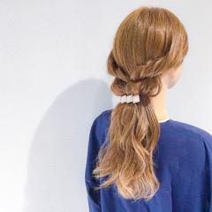 ロング フェミニン アウトドア ヘアアレンジ ヘアスタイルや髪型の写真・画像