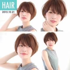 大人かわいい ショート 卵型 ストリート ヘアスタイルや髪型の写真・画像