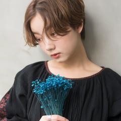 成人式 ハンサムショート ナチュラル ショート ヘアスタイルや髪型の写真・画像