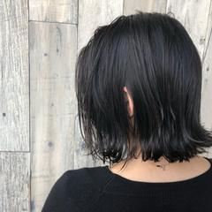 イルミナカラー ボブ モード 外ハネ ヘアスタイルや髪型の写真・画像