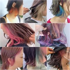 ハイトーンカラー ストリート ウルフカット インナーカラー ヘアスタイルや髪型の写真・画像