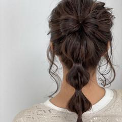 大人かわいい セミロング ヘアアレンジ ナチュラル ヘアスタイルや髪型の写真・画像