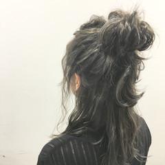 ストリート ハイライト 簡単ヘアアレンジ 外国人風 ヘアスタイルや髪型の写真・画像