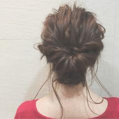 ガーリー 編み込み ヘアアレンジ ロング ヘアスタイルや髪型の写真・画像
