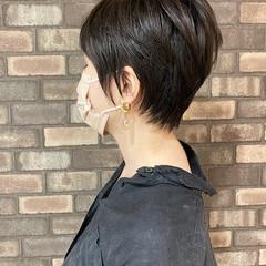 アディクシーカラー 大人ショート ショートヘア 透明感 ヘアスタイルや髪型の写真・画像