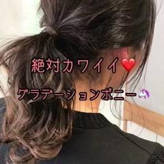 デート ヘアアレンジ セミロング アンニュイほつれヘア ヘアスタイルや髪型の写真・画像