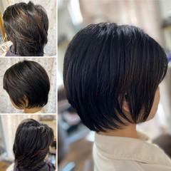 ゆるふわパーマ ベリーショート ミニボブ ショートボブ ヘアスタイルや髪型の写真・画像