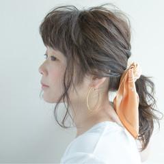 ヘアアレンジ ゆるふわ ミディアム モテ髪 ヘアスタイルや髪型の写真・画像