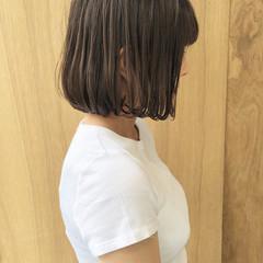 外ハネボブ ナチュラル インナーカラー グラデーションカラー ヘアスタイルや髪型の写真・画像