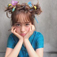 ハーフアップ 外国人風 簡単ヘアアレンジ ヘアアレンジ ヘアスタイルや髪型の写真・画像