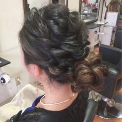 ゆるふわ お団子 ルーズ ロング ヘアスタイルや髪型の写真・画像