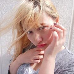 外国人風 ハイトーン 外国人風カラー 金髪 ヘアスタイルや髪型の写真・画像
