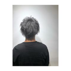 グレー ストリート シルバーグレー 透明感 ヘアスタイルや髪型の写真・画像
