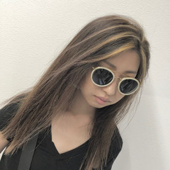 3Dハイライト 外国人風 外国人風カラー 3Dカラー ヘアスタイルや髪型の写真・画像