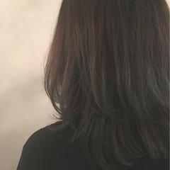 アッシュ ナチュラル グラデーションカラー ハイライト ヘアスタイルや髪型の写真・画像