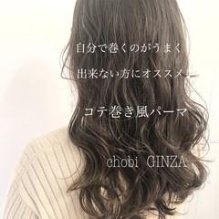 ゆるふわパーマ デジタルパーマ パーマ フェミニン ヘアスタイルや髪型の写真・画像