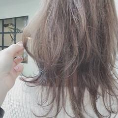 ゆるふわ オフィス 大人かわいい ミディアム ヘアスタイルや髪型の写真・画像