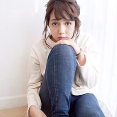 女子会 簡単ヘアアレンジ デート ナチュラル ヘアスタイルや髪型の写真・画像