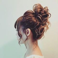ルーズ 編み込み ヘアアレンジ ロング ヘアスタイルや髪型の写真・画像