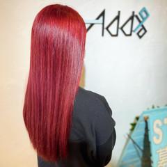 卒業式 ブリーチオンカラー ラズベリーピンク ピンクバイオレット ヘアスタイルや髪型の写真・画像