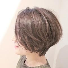 ショートヘア 小顔ヘア 小顔ショート アンニュイほつれヘア ヘアスタイルや髪型の写真・画像