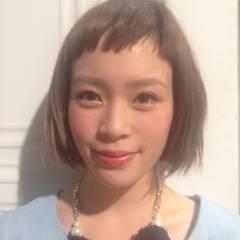 シースルーバング 大人かわいい ショート ストリート ヘアスタイルや髪型の写真・画像