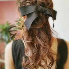 ヘアアレンジ ロング 編み込み 簡単ヘアアレンジ ヘアスタイルや髪型の写真・画像