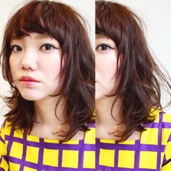 暗髪 ストリート 外国人風 セミロング ヘアスタイルや髪型の写真・画像