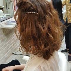 大人女子 ニュアンス ミディアム ガーリー ヘアスタイルや髪型の写真・画像