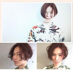 ボーイッシュ メンズ パーマ 刈り上げ ヘアスタイルや髪型の写真・画像