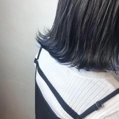 ハイトーン 切りっぱなし アッシュ ストリート ヘアスタイルや髪型の写真・画像