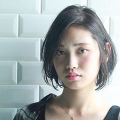 ひし形 美シルエット コンサバ ショートボブ ヘアスタイルや髪型の写真・画像