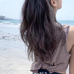 ビーチガール レイヤーロングヘア ロング ハイライト ヘアスタイルや髪型の写真・画像