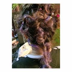 ロング ハイトーン カラフルカラー ストリート ヘアスタイルや髪型の写真・画像