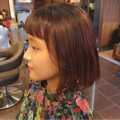 ボブ ガーリー 透明感 秋 ヘアスタイルや髪型の写真・画像
