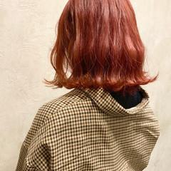 ブリーチ ストリート ミディアム レッド ヘアスタイルや髪型の写真・画像