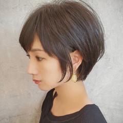ナチュラル ショートヘア ショートボブ 小顔ショート ヘアスタイルや髪型の写真・画像