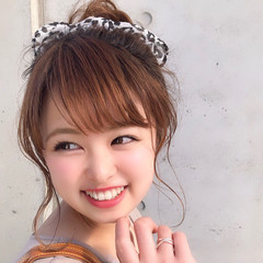 デート 簡単ヘアアレンジ フェミニン ヘアアレンジ ヘアスタイルや髪型の写真・画像