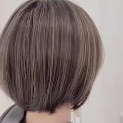 ハイライト ショート 大人かわいい 大人ハイライト ヘアスタイルや髪型の写真・画像