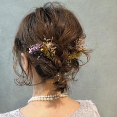 デート ボブ ナチュラル 簡単ヘアアレンジ ヘアスタイルや髪型の写真・画像