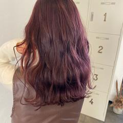 ピンク ナチュラル ピンクラベンダー ラベンダーピンク ヘアスタイルや髪型の写真・画像