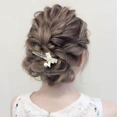 ヘアアレンジ 結婚式 ゆるふわ デート ヘアスタイルや髪型の写真・画像